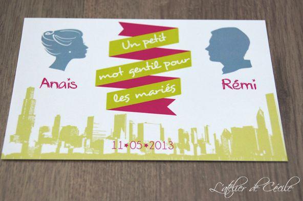 Livre d�or Mariage � Version Carte postale