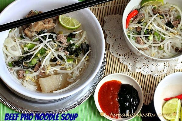 Vietnamese Pho – Beef Rice Noodle Soup (Pho Tai Bo) with Slow Cooker ...