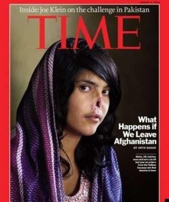 Bibi Aisha: a jovem afegã Bibi Aisha tornou-se mundialmente conhecida após seu rosto ter sido desfigurado aos 18 anos pelo marido, na província de Uruzgan, Afeganistão. O homem era simpatizante do Talibã e cortou a orelha e o nariz dela por ter reclamado aos seus pais sobre maus tratos dos sogros. Ela havia protestado contra o costume de seu país, adotado por sua família, que a deu como presente ao noivo quando tinha apenas 12 anos. Em agosto de 2010, Bibi Aisha foi capa da Time. Ela passou…