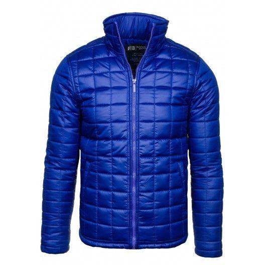 Pánske zimné bundy modrej farby - fashionday.eu