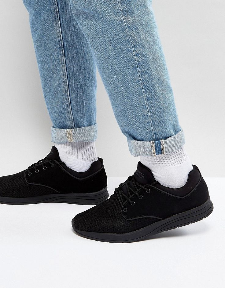 Pull&Bear Sneakers With Mesh In Black - Black
