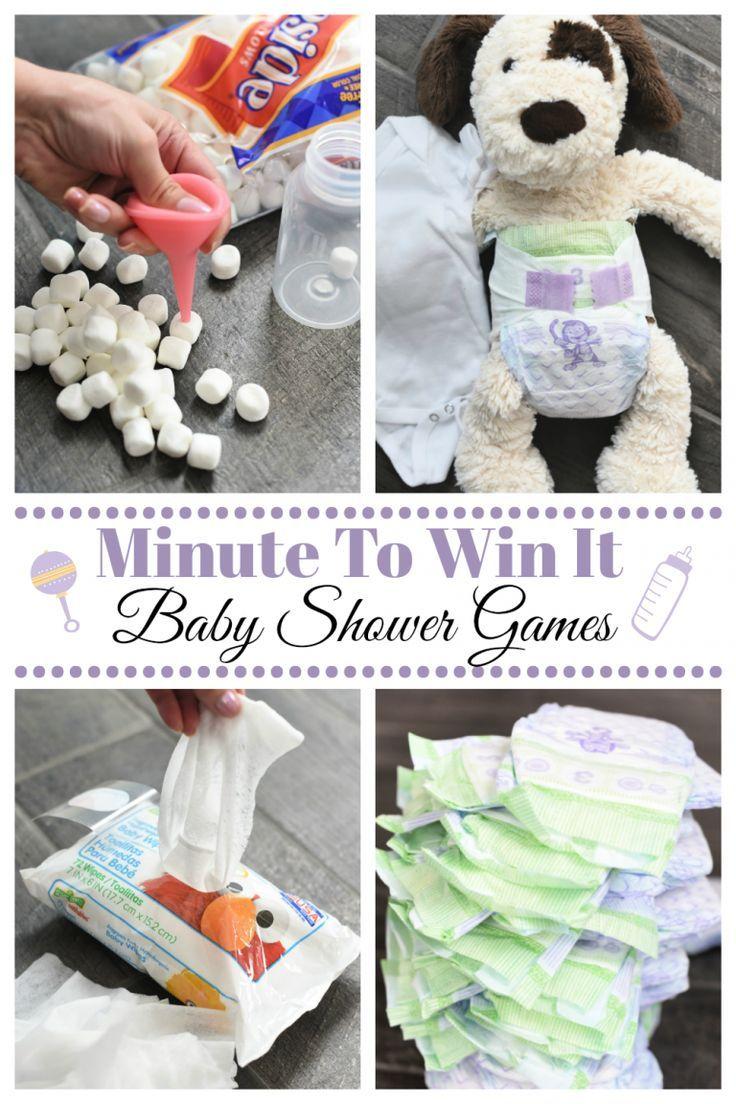 Fun Minute, um es zu gewinnen Baby Shower Spiele – Fun-Squared