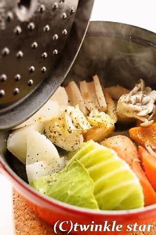 ストウブで♪蒸し野菜「ストウ部活動日誌(TB企画)」 - twinkle star~パンを焼く毎日~