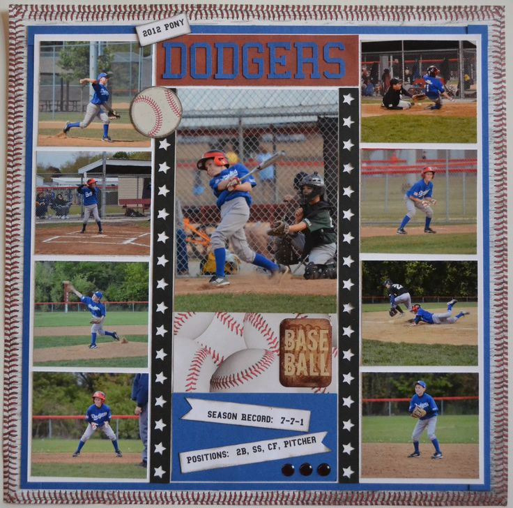 Baseball Scrapbook Pages | Sports