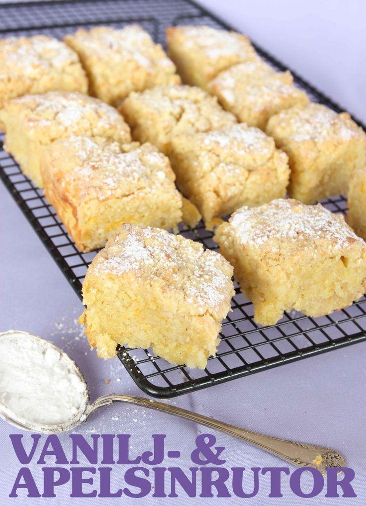 Smuliga vanilj- & apelsinrutor | Tidningen Hembakat