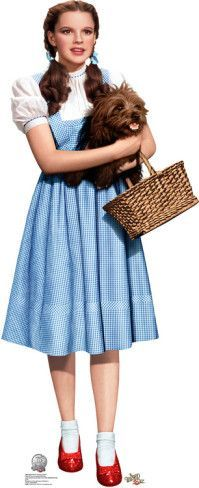 Dorothy Holding Toto - Wizard of Oz 75th Anniversary Lifesize Standup Poster Stand Up at AllPosters.com