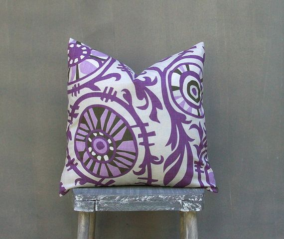 Purple Pillow Cover Decorative Throw Pillow Covers by EdenPillows, $15.00