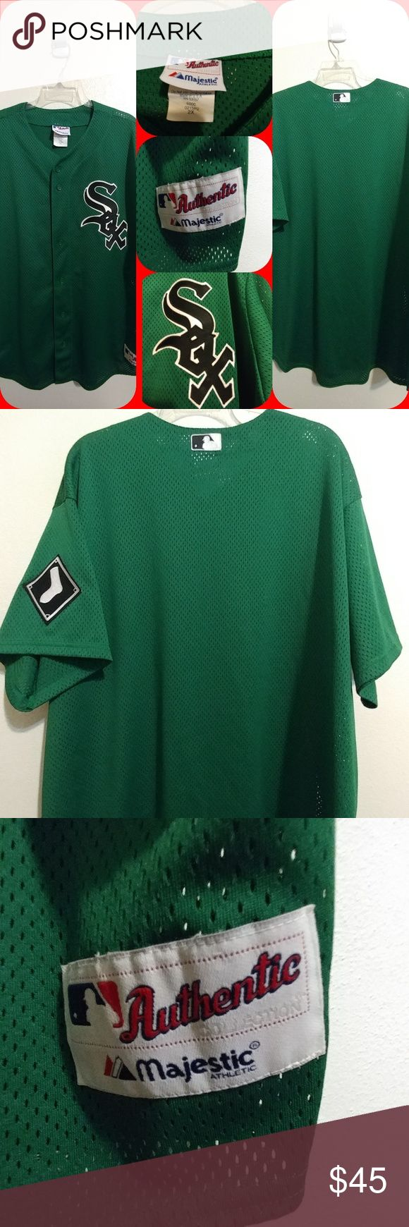 CHICAGO WHITE SOX ST PADDY'S DAY JERSEY SIZE 2X MAJESTIC CHICAGO WHITE SOX ST PADDY'S DAY JERSEY SIZE 2X EXCELLENT PRE-OWNED CONDITION Majestic Other
