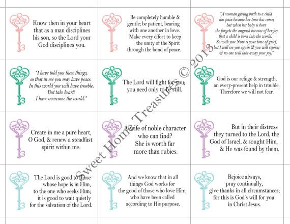 48 PRINTABLE Bible Verses for Moms, DIY gifts for mom ...