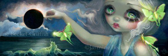 Luna Eclipse fairy art print by Jasmine by strangeling on Etsy