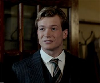 The dashing new footman Jimmy on Downton Abbey Season 3 Episode 4