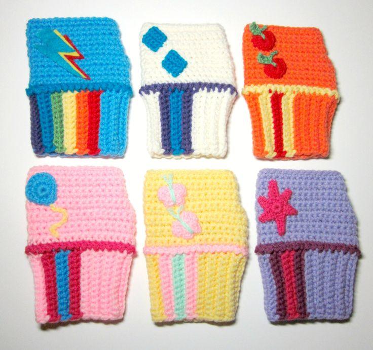 MLP Rainbow Dash Mini Wristies. Wristwarmers. My Little Pony Fingerless Gloves. Crochet Rainbow MLP Accessory. Cosplay.. $35.00, via Etsy.