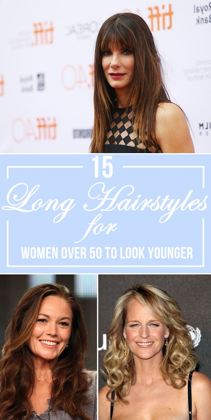 15 Long Hairstyles For Women Over 50 To Look Younger Long Hair Styles Womens Hairstyles Hair Styles