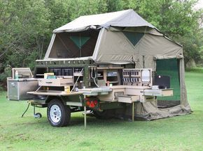 From LPC Survival Ltd. FB Page- shared U.K Prepper Girl's post.  Mommy Wants!   Whoa buddy! How'd you like one of these for a bugout trailer? — with Alberto Dueñas. UEV 390 Conqueror Comfort Camper, South Africa http://conqueror4x4.com/comfort-