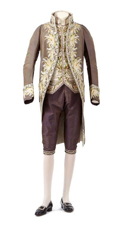 1806 to 1808. This garment is an example if the 'French-style jacket,' reminiscent of the court of Versailles, that men were required to wear by First Empire etiquette.