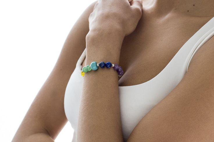 pulsera equilibra,pulsera terapéutica,pulsera boho,pulsera balance,pulsera plata,pulsera cuentas,pulsera piedras naturales,pulsera unisex de EspacioTeseaTienda en Etsy