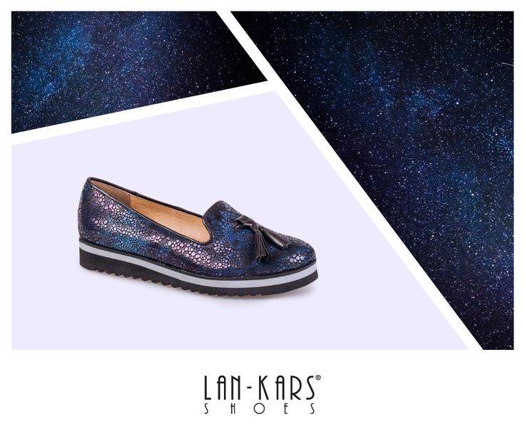 Lordsy  w kolorach nocnego nieba.  #lords #shoes #blue #darkblue #sky #night #stars #starry #leather #fashion #woman #style #comfortable