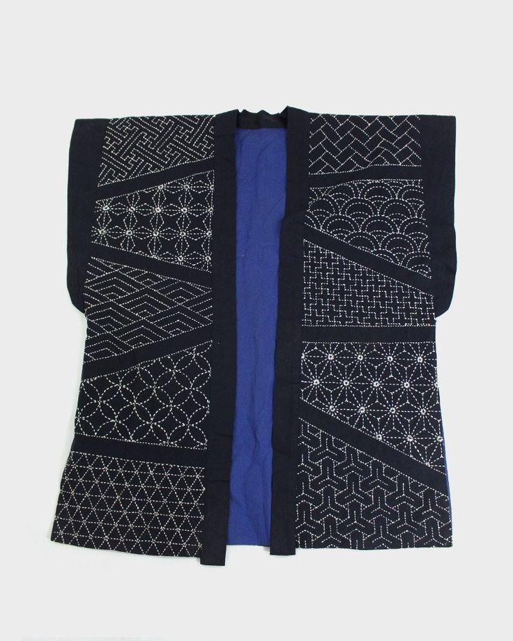 Vintage Indigo Sashiko Vest | Kiriko Made More