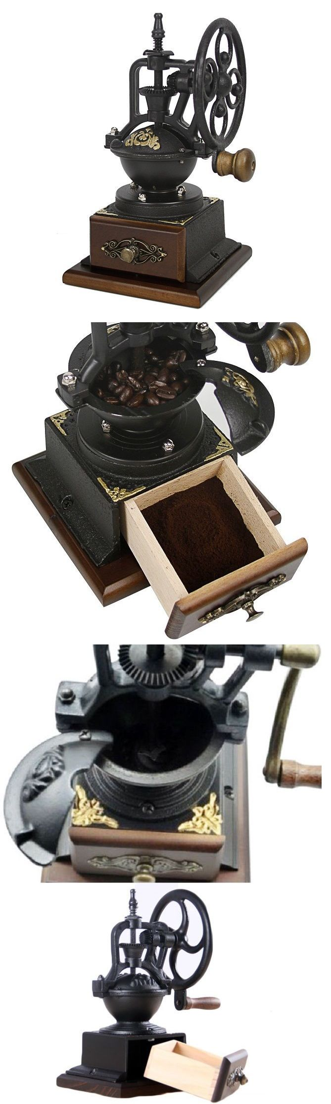 Coffee Grinders 32882: Small Coffee Maker Grinder Old Fashioned Whole Bean Manual Hand Held Crank Mill -> BUY IT NOW ONLY: $54.49 on eBay!