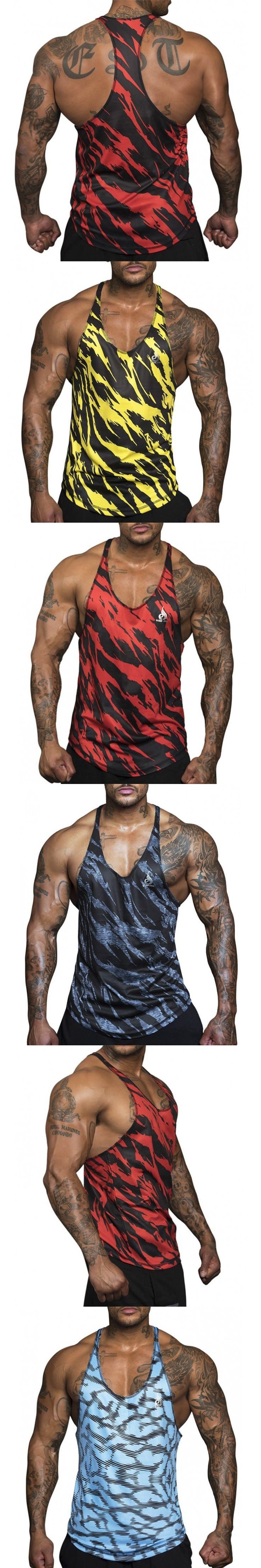2017 gyms Singlets Camouflage Quick dry Tank Tops Shirt Bodybuilding Equipment Fitness Men's Golds GymStringer