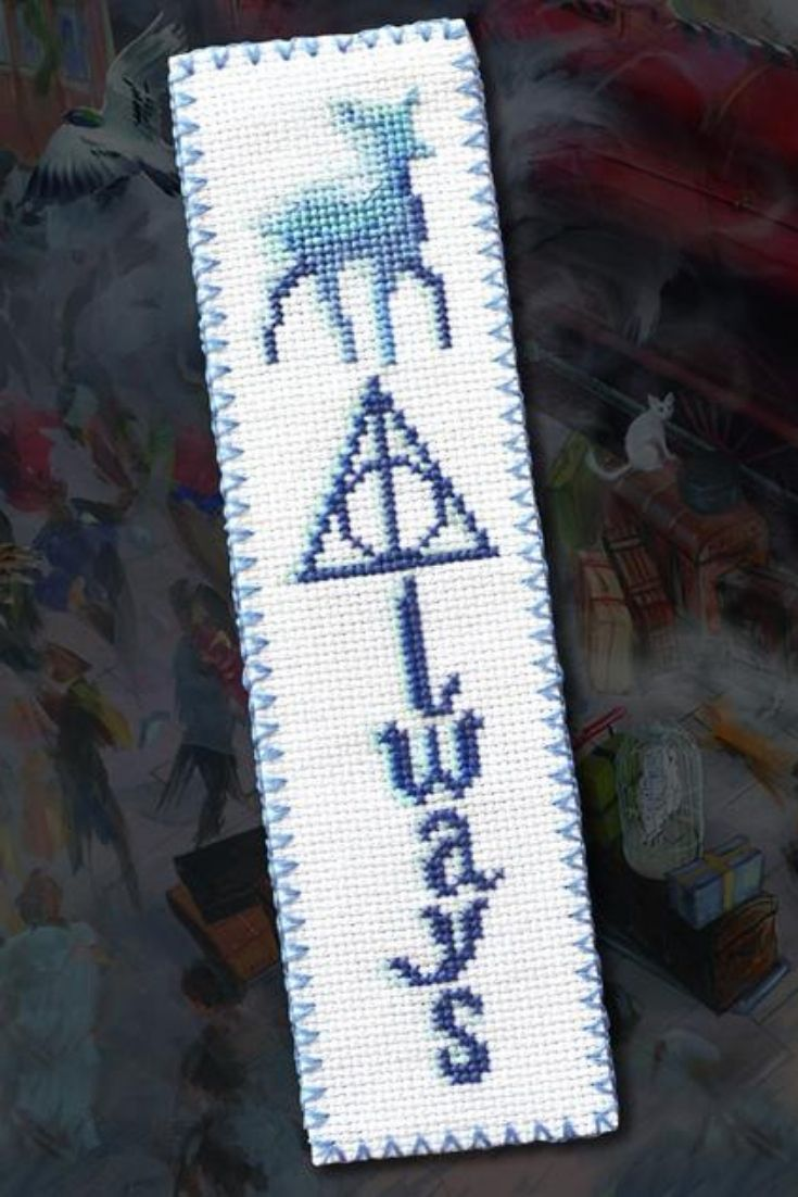 Cross Stitch Bookmark Pattern Always Embroidery Design Etsy In 2020 Harry Potter Cross Stitch Pattern Cross Stitch Bookmarks Cross Stitch Harry Potter