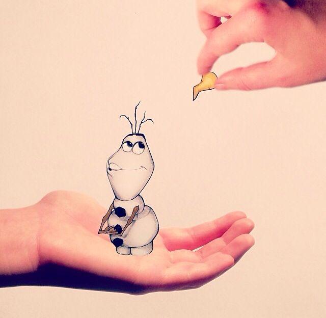 Olaf #frozen #arte