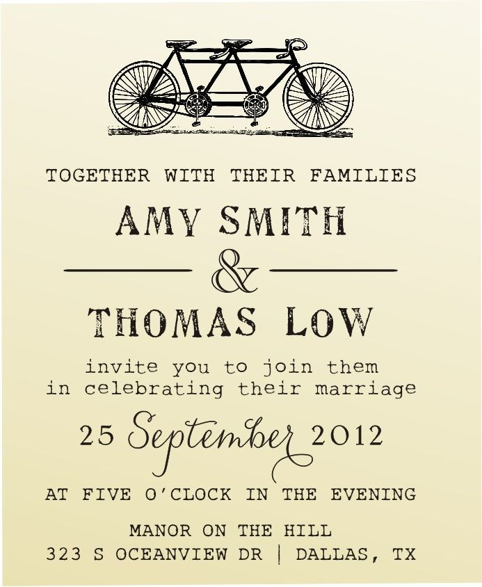 DIY Wedding invitation vintage design typewriter font rubber stamp clear block mounted -style 6028INVITATION  - custom wedding stationary
