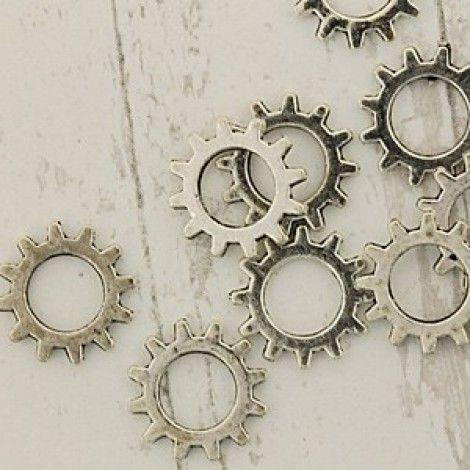 12mm Steampunk Antique Silver Watch Gear Components