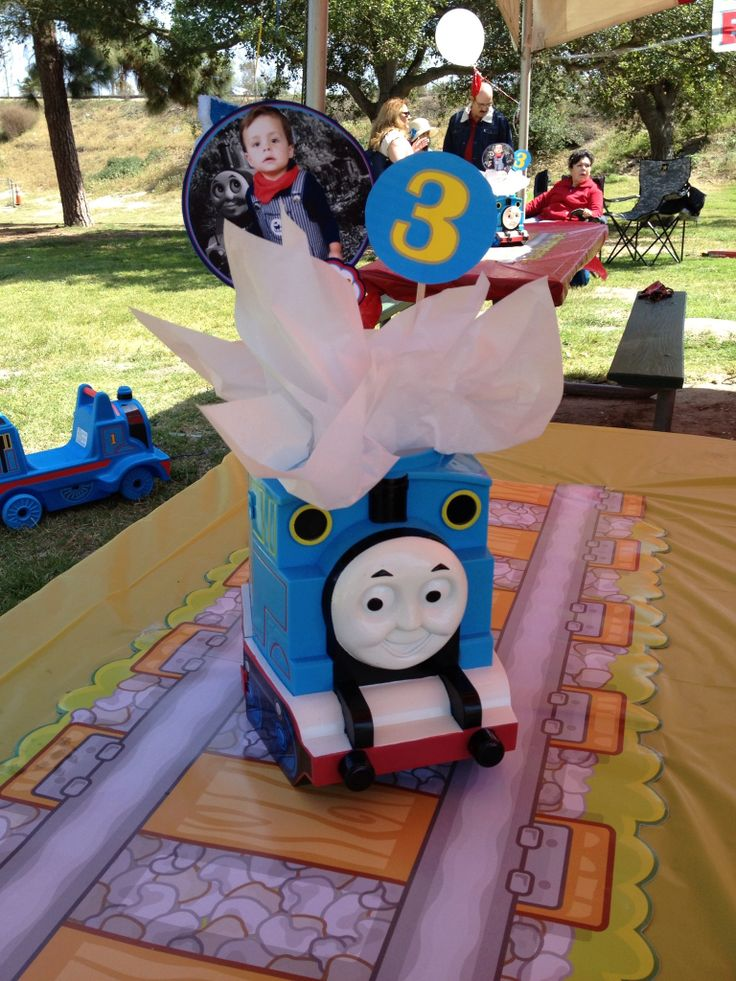 Thomas The Train Centerpiece With Train Track Table Runner