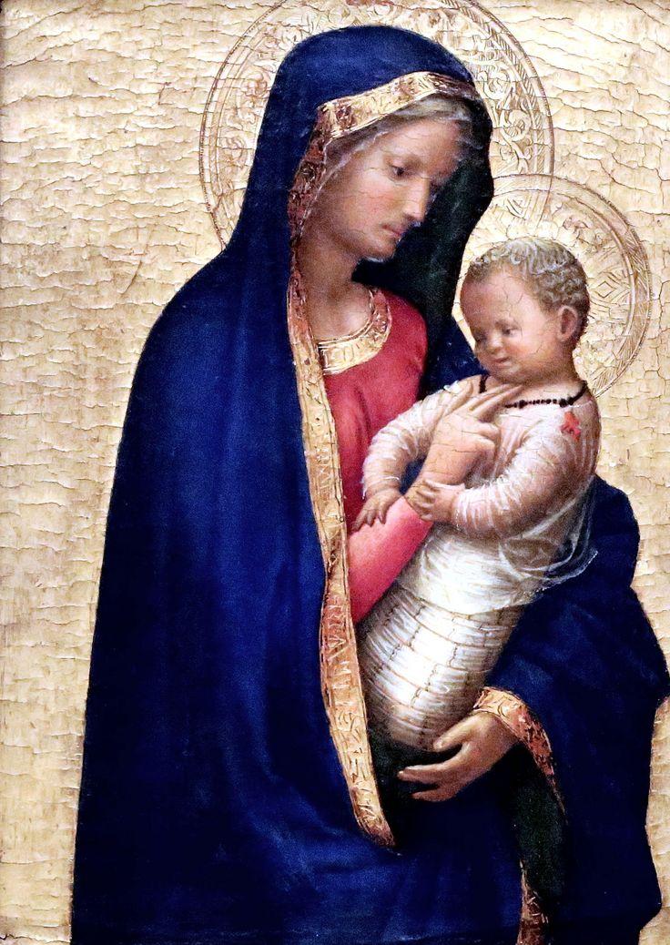 Italian Art ~ Masaccio. (Tommaso di ser Giovanni Cassai) 1401-1428. Florence. Vierge à l'Enfant dite Madonna del solletico. 1426. Galleria degli Uffizi Firenze