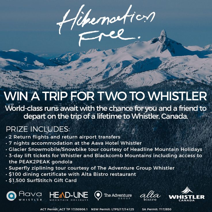 WIN A TRIP TO WHISTLER!