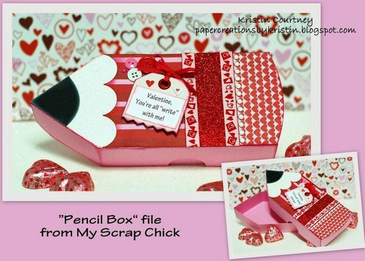 Paper Creations by Kristin: Pencil Box-Valentine