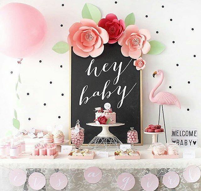 hey baby flamingo fun all the way with this pretty baby shower