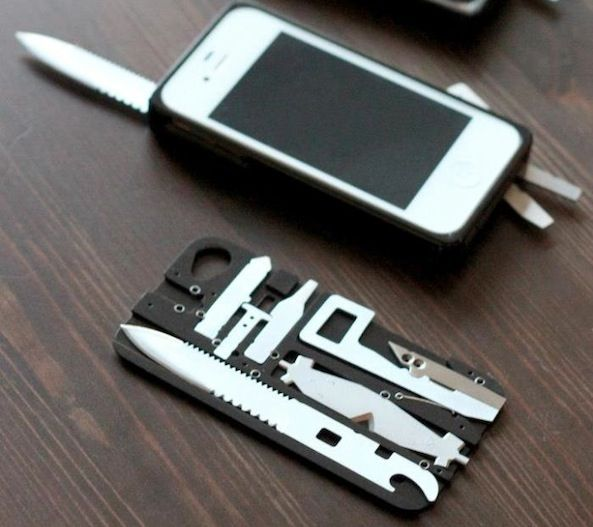 """This case turns your iPhone into a Swiss Army knife"" - mom, if you see this, i think it has frye *all* over it. ;)"