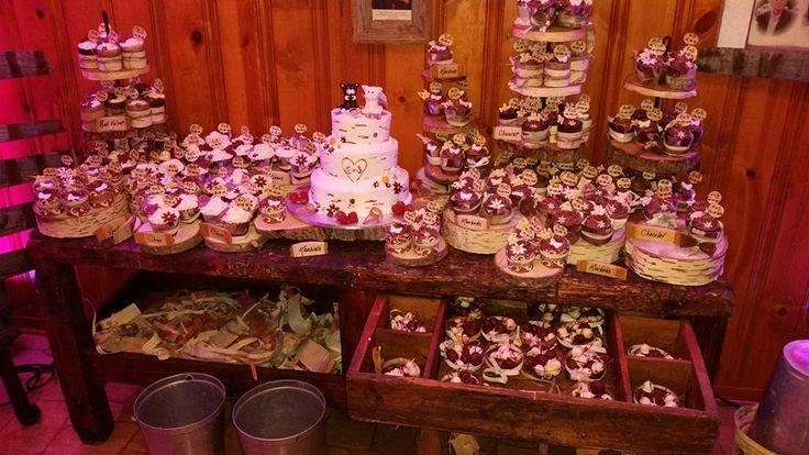 shabby chic wedding cupcakes