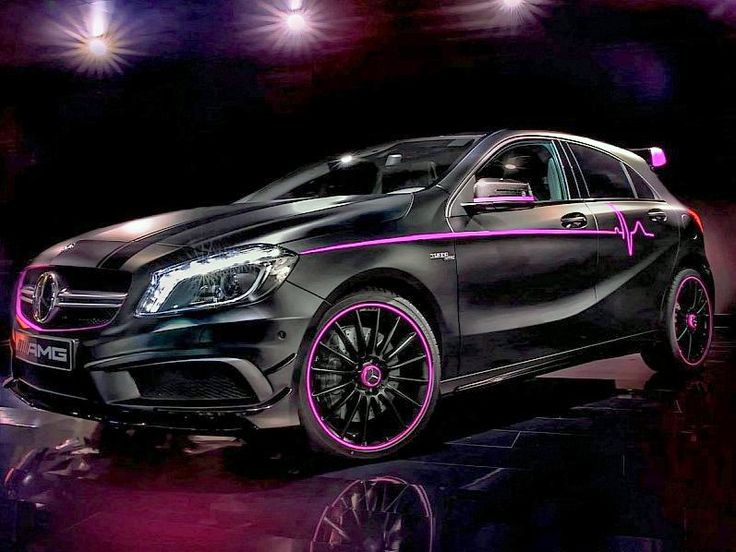 17 best images about cars on pinterest honda civic si for Pink mercedes benz