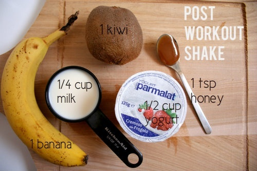 how to make a post workout shake