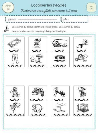 Localiser les syllabes 7