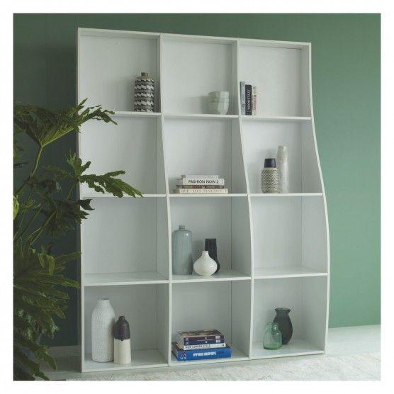 ATLAS White curved large bookcase | Buy now at Habitat UK