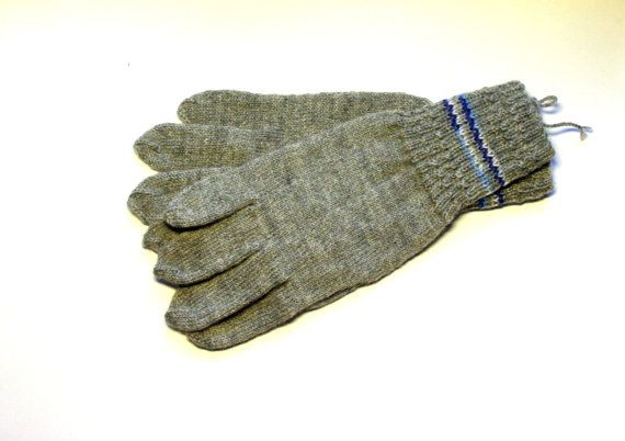 Hand Knitted Gloves Gray Elegant Arm Warmers Gloves by DriadaD