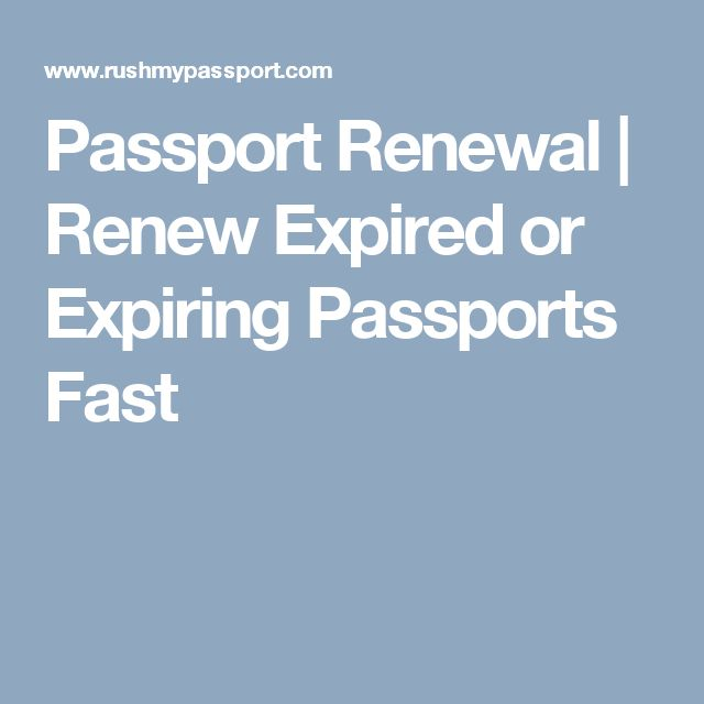 Passport Renewal | Renew Expired or Expiring Passports Fast