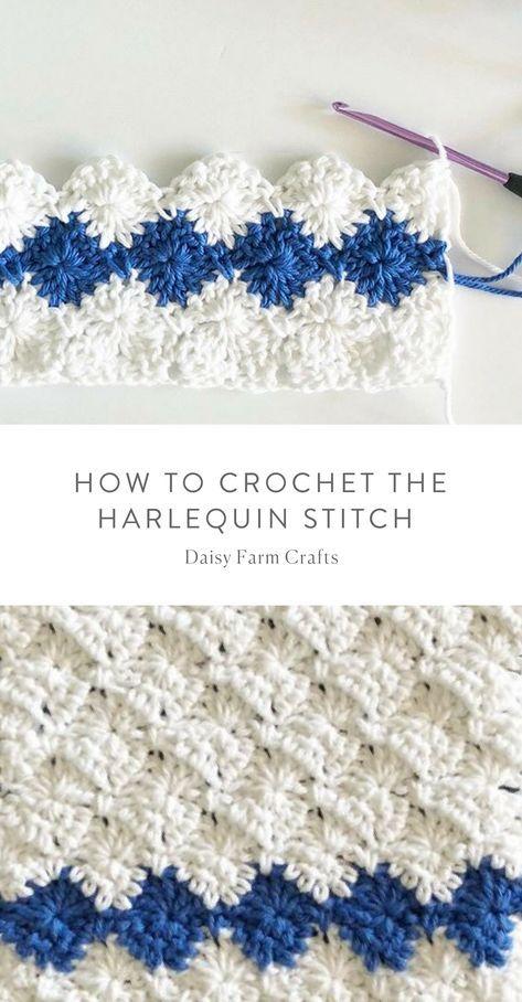 How to Crochet the Harlequin Stitch – Daisy Farm Crafts #crochet