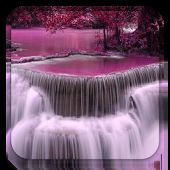 Chute d'eau fond d'écran animé