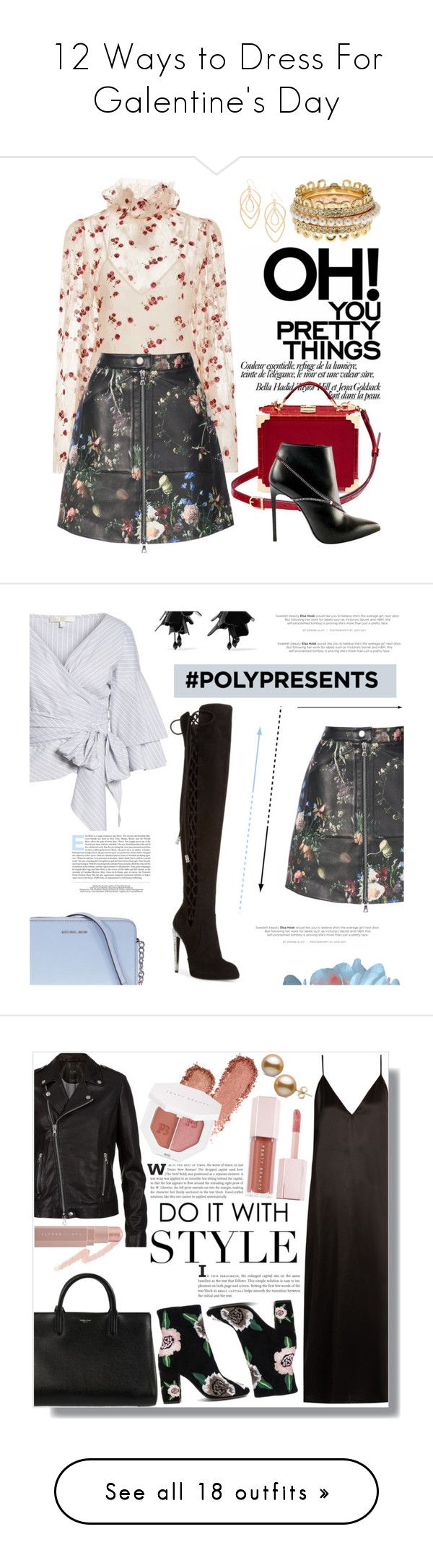 """""""12 Ways to Dress For Galentine's Day"""" by polyvore-editorial ❤ liked on Polyvore featuring waystowear, galentinesday, LUISA BECCARIA, ADAM, Aspinal of London, Yves Saint Laurent, Barse, Kate Spade, Wayf and Giuseppe Zanotti"""