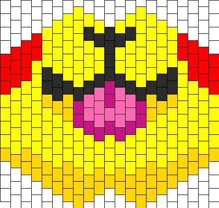 Pikachu Tongue Kandi Pattern