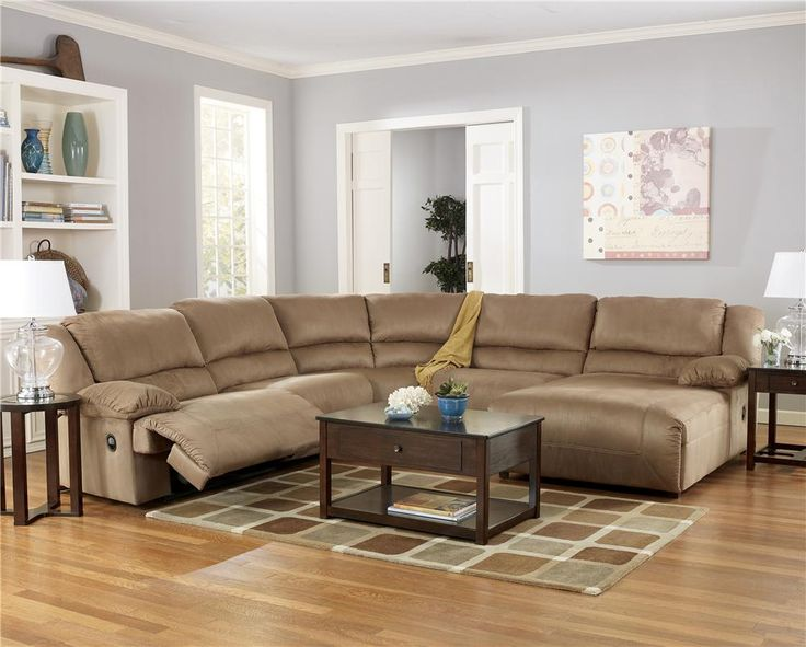 Best Hogan Mocha 5 Piece Motion Sectional With Right Chaise 400 x 300