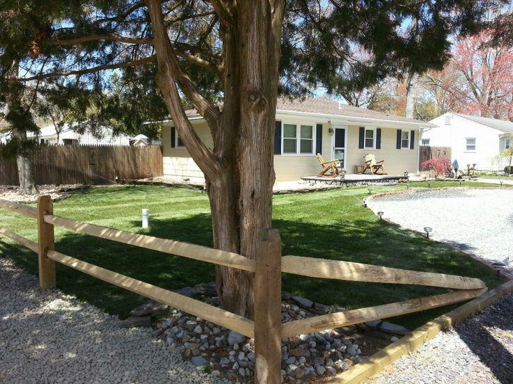 After Super Storm Sandy Split Rail Fence Green Thumb