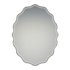 Quoizel Artiste 30.25 X 40 Black Beveled Oval Framed Transitional Wall Mirror Qr2798