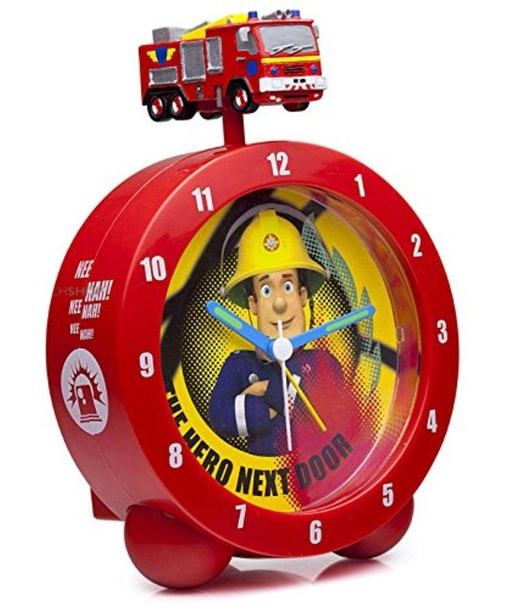 Fireman Sam - The Hero Next Door Alarm Clock - Jupiter Fire Engine Topped - Brought to you by Avarsha.com