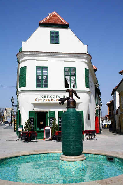 The Kreszta Building in Gyor,Hungary., hom eof the permanent exhibition of the works of Hungarian Ceramics Artists Margit Kovács